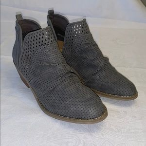 REPORT - Gray Suede Angle Boots - Size 10